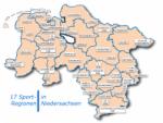 Übersicht Sportregionen in Niedersachsen